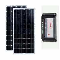 Zonnepaneel 300 w Pannello Solare 12v 150w 2 Pcs Batterie Solaire Regolatore di Carica Solare 12 v/24 v 30A Camper Caravan Campeggio Auto
