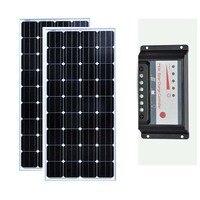 Zonnepanil 300 واط لوحة طاقة شمسية 12 فولت 150 واط 2 قطعة Batterie Solaire الشمسية جهاز التحكم في الشحن 12 فولت/24 فولت 30A متنقل قافلة سيارة التخييم