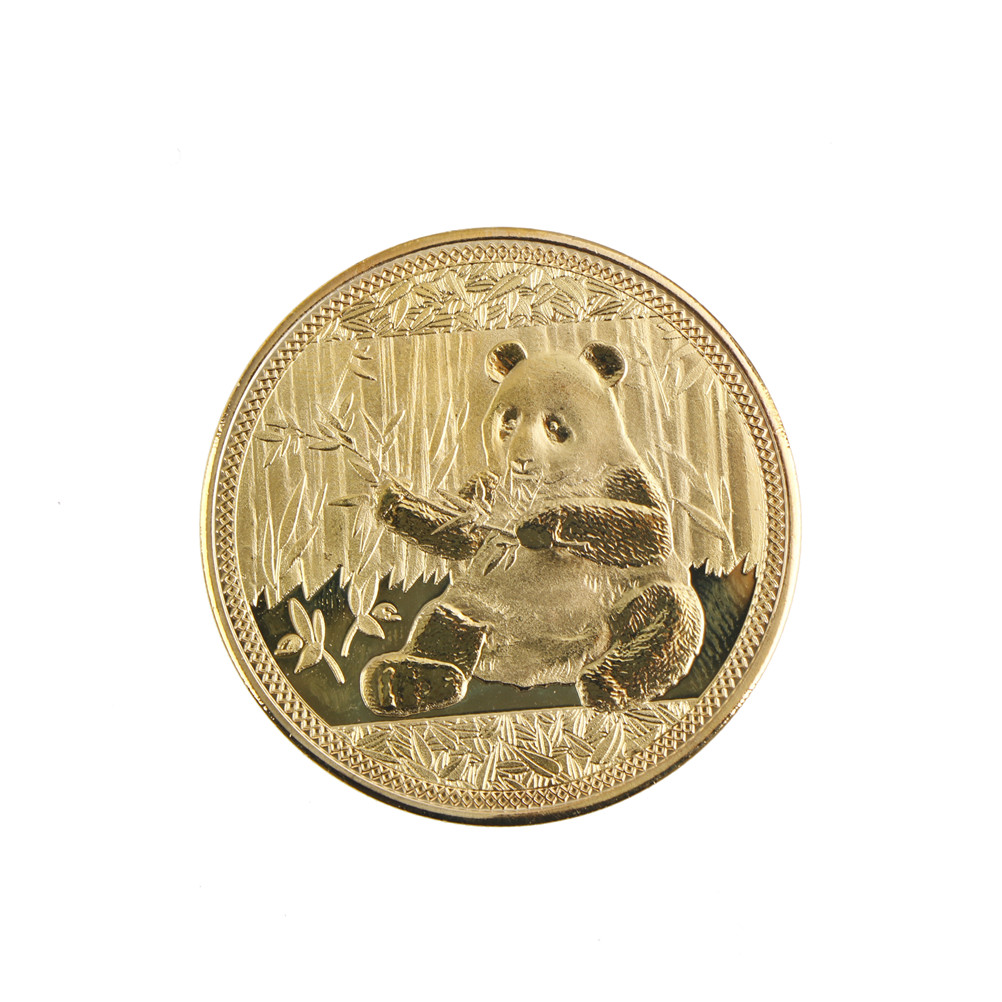 1PC Big Panda Baobao Commemorative Non-currency Coins Collection Art Gifts Wholesale Gold Color
