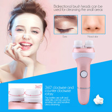 CkeyiN Electric Face Cleanser Vibrate Pore Clean Double Head Facial Cleansing Brush Massager Face Brushes Skin Care Spa Massage