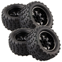 4pcs Tires Tyre Wheel Rim For HSP HIMOTO REDCAT 1 10 4wd Off Road Monster Truck