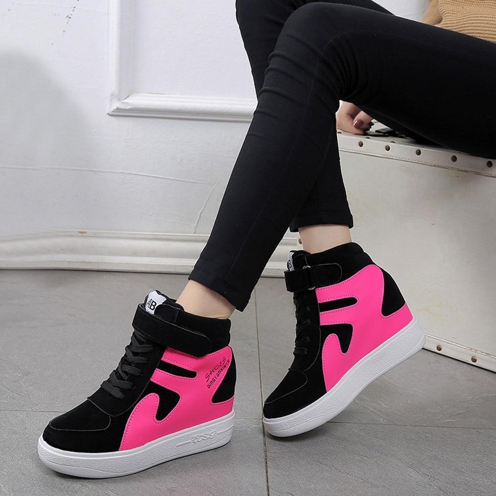 Womens Shoes Platform Sneakers Tenis Feminino Flat Black Shoes Woman Zapatillas Mujer Casual Sapato Feminino High Quality Shoes 5