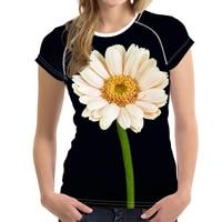 FORUDESIGNS Purple Flower T shirt Women Summer Short Sleeve Slim Allover Print Elastic Tops Crop Ladies Tshirt Female Clothes