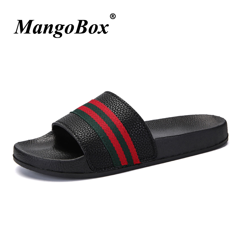 Popular Men Slippers Summer Flat Black White Men Slippers Shoes - Men's Shoes - Photo 3