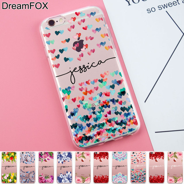newest collection 0702b 6f939 US $2.35 41% OFF|DIY Name Custom Design Print Case Cover For iPhone X XS XR  Max 5 5s SE 6 6s 7 8 Plus Flower Personalized-in Fitted Cases from ...