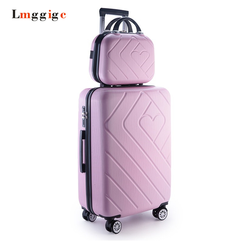 2024inch Luggage travel bag universal wheels trolley suitcase ABS box