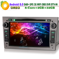 DAB+ Android 8.0 Autoradio Sat Navi WiFi 3G GPS SD CD TV DVD RDS BT Bluetooth USB Car Radio player FOR Opel Antara Combo Corsa