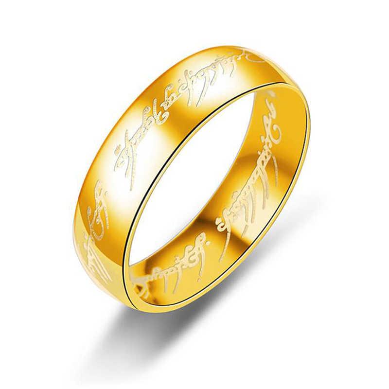 Новое кольцо из нержавеющей стали Властелин одного кольца для женщин влюбленных мужчин модные ювелирные изделия оптом