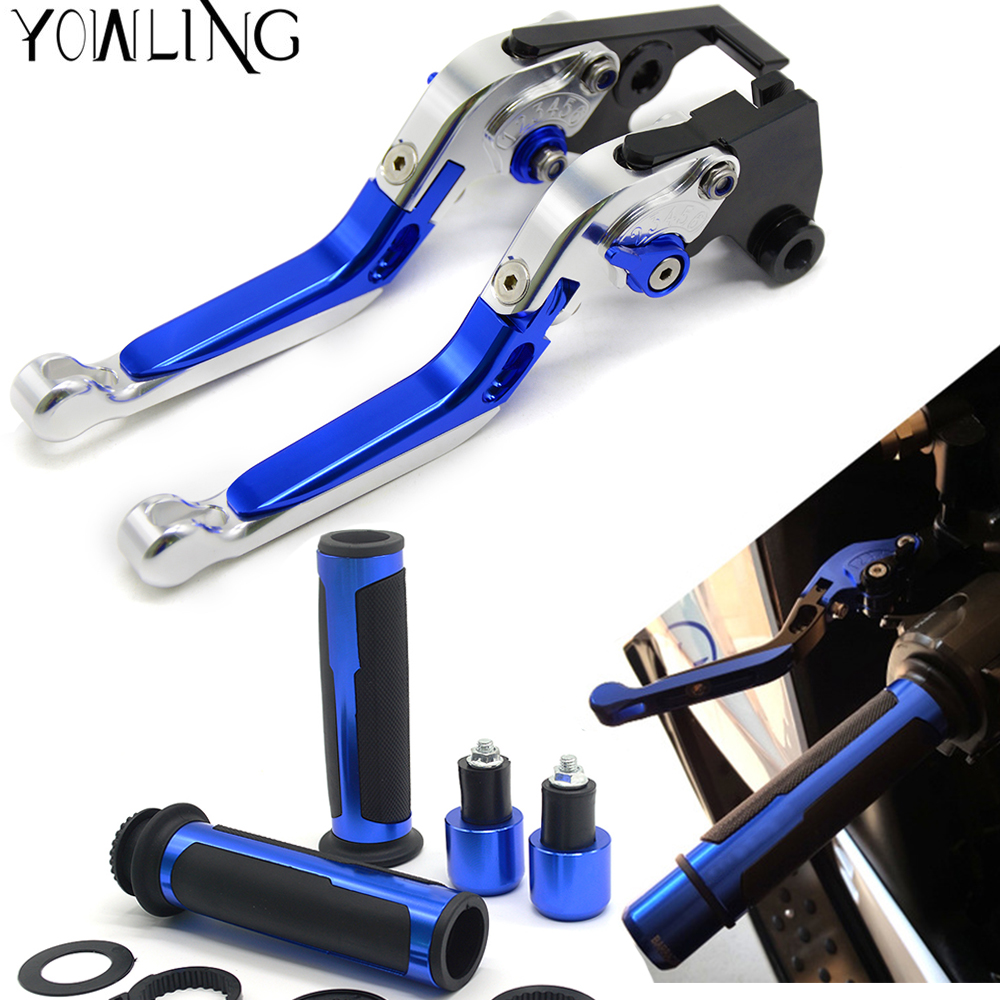 Motorcycle Accessories Folding Extendable Brake Clutch Levers handlebar grips handle bar ends For honda CBR125R 2015 CBR 125 R 7 colors motorcycle cnc brake clutch levers and handlebar hand grips for aprilia dorsoduro 750 rsv mille r falco sl1000