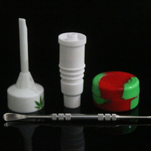 Ceramic Bongs Tool Set with Ceramic Carb Caps 14/18mm Ceramic Nails for  20mm heating coil Dabber Tool Slicone Jar Dab Container цена