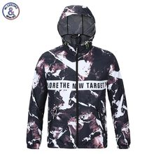 2017 Mr.1991INC Print Style Men's Autumn Jacket With Cap Hooded Hoody lovely Thin Polyester Casual Jacket Asia Size M – XXL