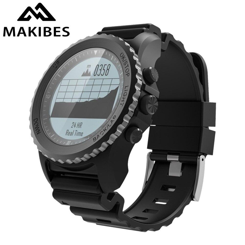 2019 Makibes G07 GPS degli uomini Multisport Astuto Della Vigilanza di Bluetooth IP68 Impermeabile Lo Snorkeling Dinamica della Frequenza Cardiaca GPS Tracker Smartwatch