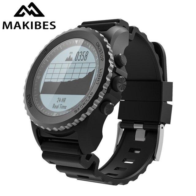 Makibes G07 GPS мультиспорт часы Для мужчин Для женщин Смарт-часы IP68 Водонепроницаемый подводное плавание динамического сердечного ритма GPS трекер SmartWatch