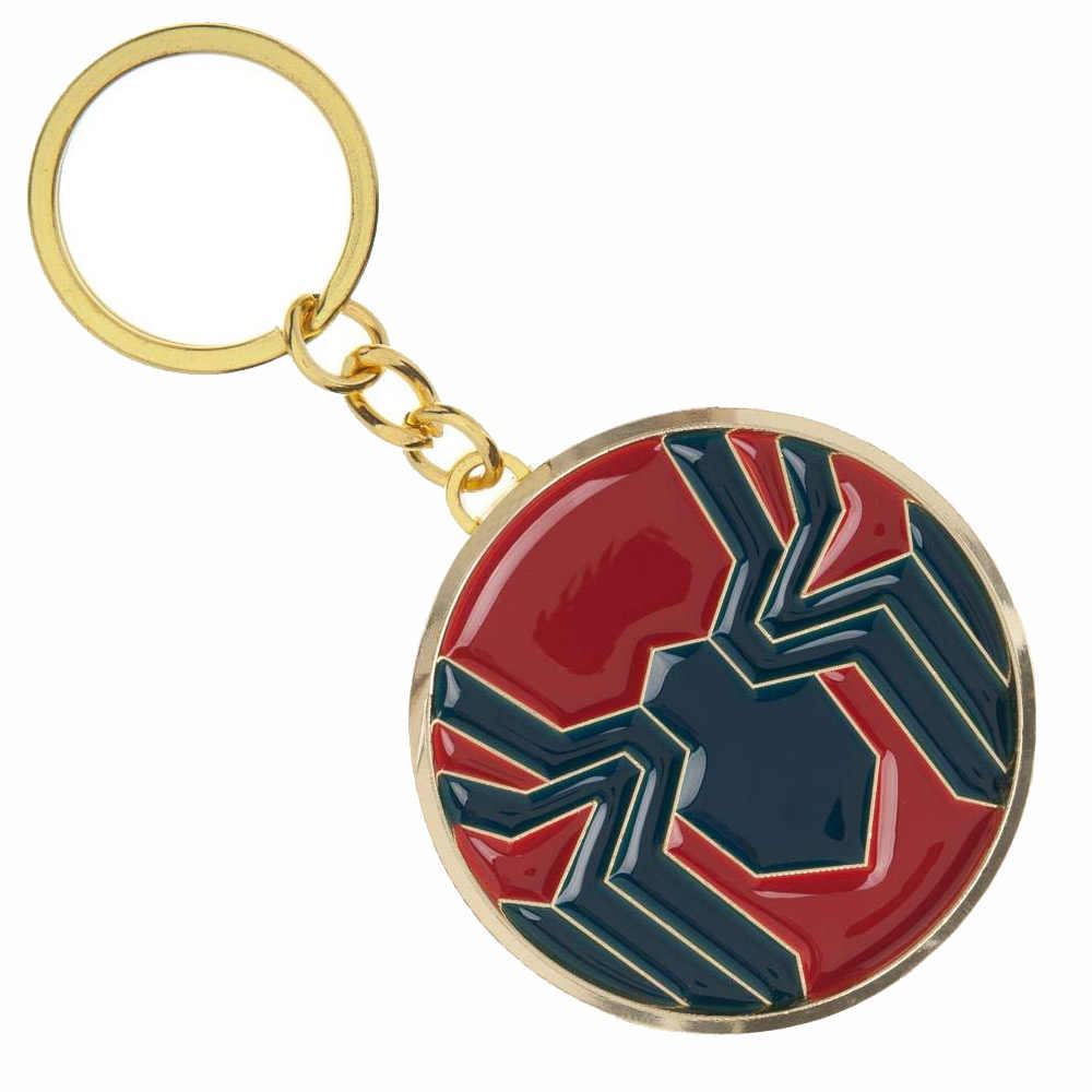 Spider-Man Longe de Casa Chaveiro Corrente Chave Do Logotipo para Os Fãs do Filme Avengers Spiderman Souvenir Jóias