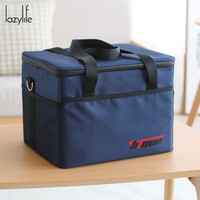 LAZYLIFE 28L Top Quality Portable Shoulder Bags Insulated Lunch Bag Large Food Picnic Cooler Box Tote Bag Thermal Lunch Bag