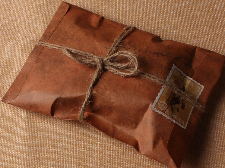 50Pcs/Lot 16x11cm Old Style Vintage Paper Envelope Brown Kraft Packaging For Retro Postcard Invitation Card Small Gift Letter