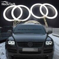HochiTech Ccfl Angel Eyes Kit White 6000k Ccfl Halo Rings Headlight For Volkswagen VW Touareg 2003