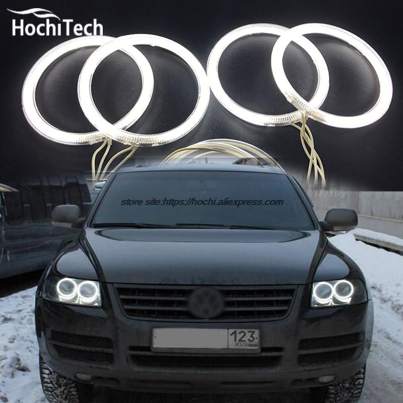 HochiTech ccfl angel eyes kit white 6000k ccfl halo rings headlight for Volkswagen VW Touareg 2003 2004 2005 2006 hochitech white 6000k ccfl headlight halo angel demon eyes kit angel eyes light for chevrolet epica magnus 2000 to 2005