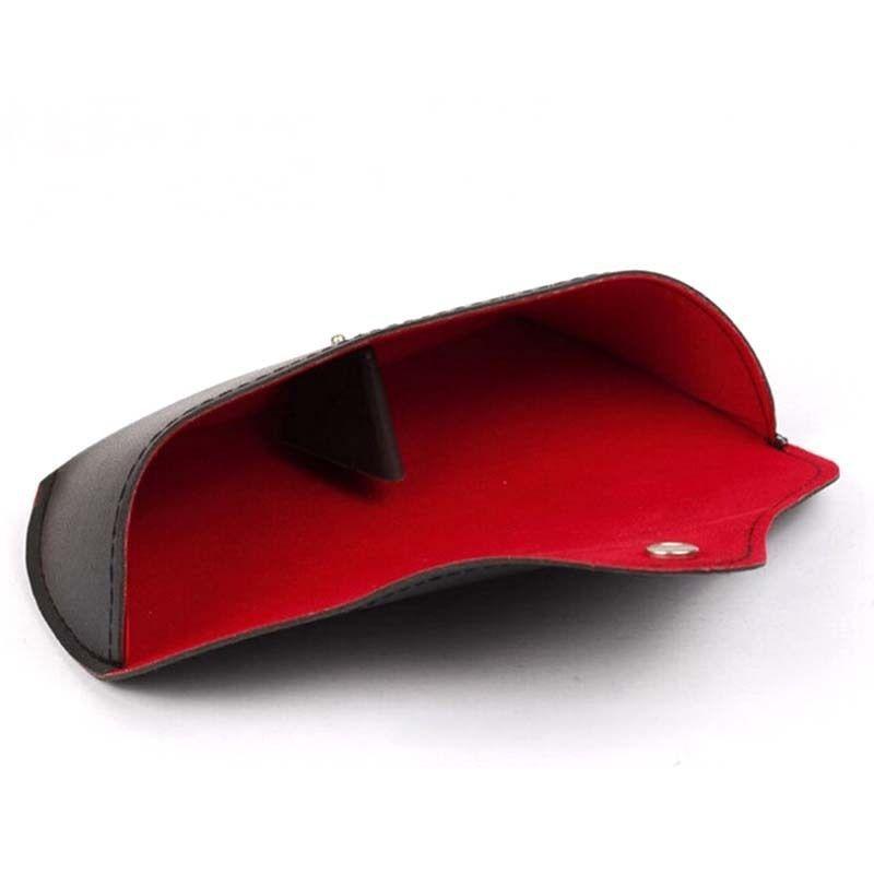 Nett Gläser Box Denim Stoff Zipper Sonnenbrille Schutz Zerquetschen Widerstand Container Accessoires Herren-brillen