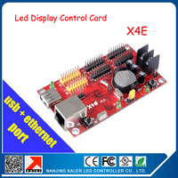 Free shipping Asynchronous Full color Message LED Display control card X4E USB+Ethernet Port Led Display Module Control Card