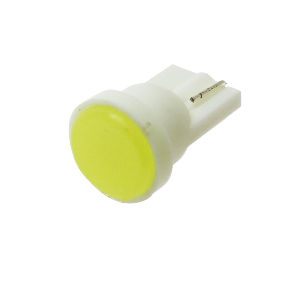 1pcs Ceramic Car Interior LED T10 COB W5W 168 Wedge Door Instrument Side Bulb Lamp Car Light White/Blue/Green/Red/Yellow Source 1x t10 ceramic cob w5w 168 car interior 1 led wedge door instrument side light bulb lamp car light source dc12v
