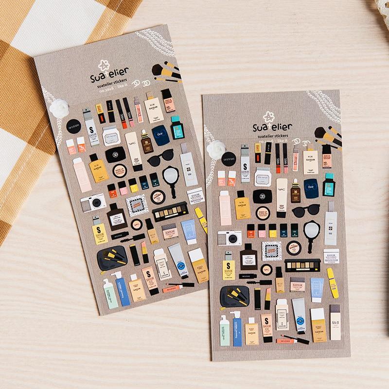 1 x sonia adesivo de papel cosmético diy adesivo decorativo para álbum scrapbooking kawaii papelaria diário adesivo