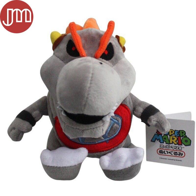 OHMETOY Super Mario Bros Bowser Koopa Jr BB Baby Gray King Bones Plush Dolls Kids Toys Children Gift 17cm Anime Brinquedos