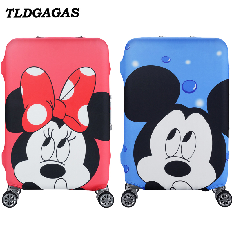 Mickey Pattern Travel Suitcase Luggage Cover Elastic Protection Case Covers For 18-32Inch Trolley Baggage Trunk Dust Cover
