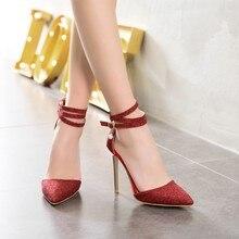 Sandales à talons hauts pour femmes, chaussures de grande taille 11 12 13 14 15 16 17, pointus et épais, colis, pour lété