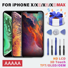 AAAAA LCD Display Touch Screen For iPhone X Xr Replacement Screen With Digitizer Assembly For iPhone Xr Xs Max Repair Tools Gift