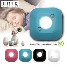 Night Lights LED Motion Sensor Emergency Lamps Infrared Induction Shoe Cabinet Wardrobe Wall Light Bedroom