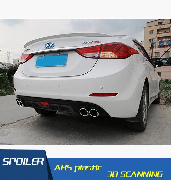 For Elantra Rear spoiler ABS Rear Bumper Diffuser Bumpers Protector For Hyundai Elantra After chrome lip