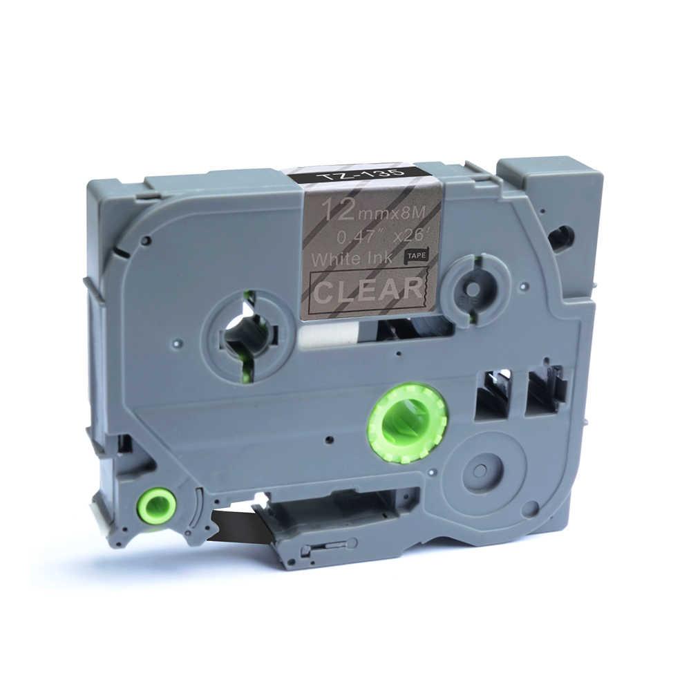 AOMYA p-touch 1 PC Compatible con Brother TZe-135 12mm x 8 m cinta de etiquetado estándar