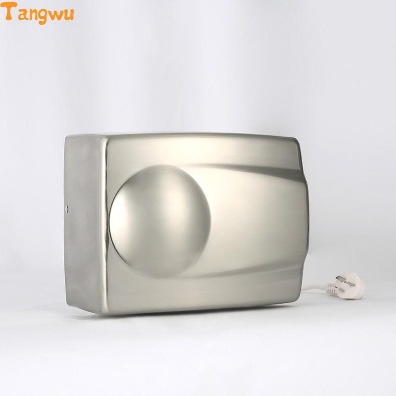 Hand Dryer Parts High speed automatic induction hotel toilet stainless iron blow dry hand dryer Hand Dryers цена