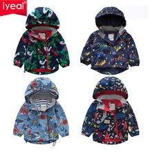 IYEAL Boys Thicken Fleece Hooded Jacket Warm Coat Children Outdoor Cute Cartoon Printed Kids Clothes for Winter Autumn Spring цена 2017