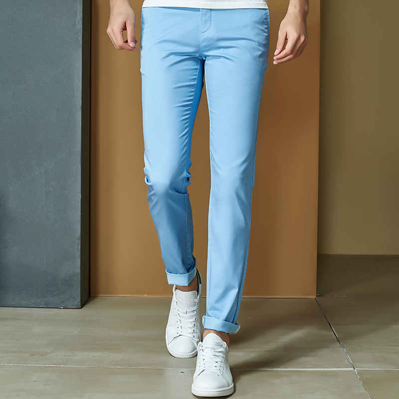 81dfc1a0b967 Anbican Brand Casual White Chino Pants Men Spring Autumn Office Work Formal  Cotton Slim Dress Pants Male Long Trousers NF506-in Casual Pants from Men s  ...