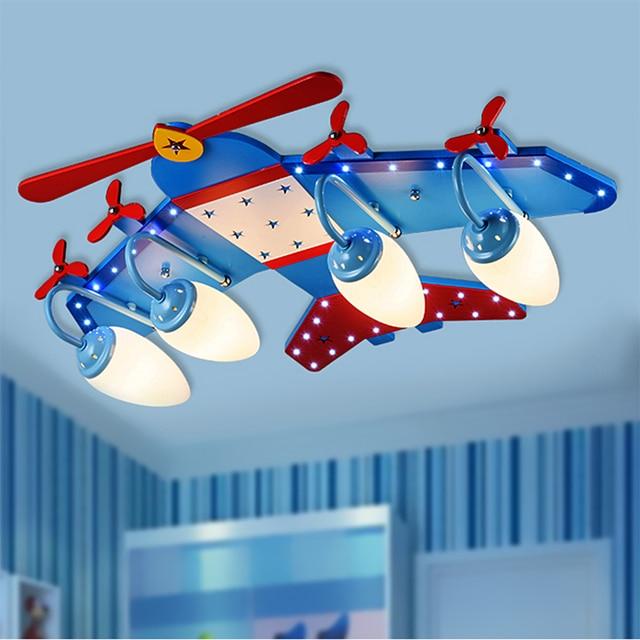 Us 24849 29 Offnowoczesne Led Chłopiec I Dziewczynka Cartoon Samolot Lampy Sufitowe Sypialnia Kreatywny Duszpasterska Oświetlenie Pokoju Dzieci W