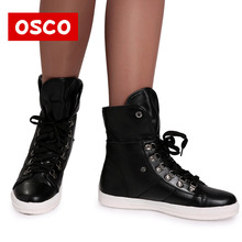 OSCO Brand New Arrival Winter Fashion Women Boots Warm Fur Ankle Snow Boots Black Ladies Style Winter Women Shoes#CC5911
