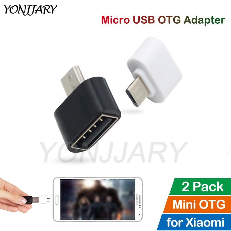 2Pcs Micro USB OTG Adapter For Xiaomi Redmi 4X 4A 5 6 6A Pro Plus Note 4X 5A 5 6 Pro Android OTG Data Converter For Redmi