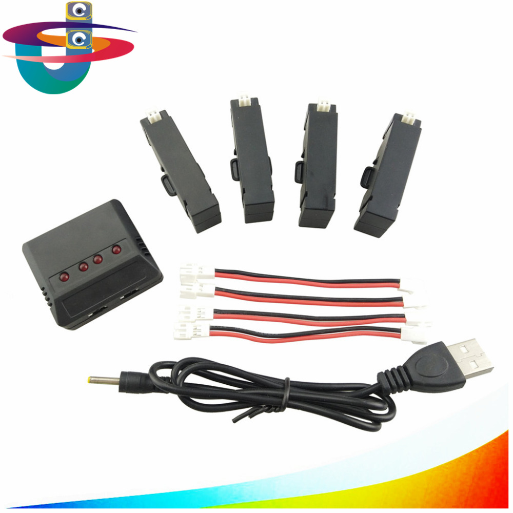 H37 mini helicopter spare parts with 4pcs 3.7v 400mah lipo battery + 1 charge 4 balanced charger H37mini battery