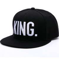 2017 Hot Sale KING QUEEN Embroidery Snapback Hat Acrylic Men Women Couple Baseball Cap Gifts Fashion