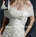 Fora Do Ombro Frete Grátis Apliques Organza Moda Acessórios Do Casamento Nupcial Xaile Envoltório Bolero Jacket