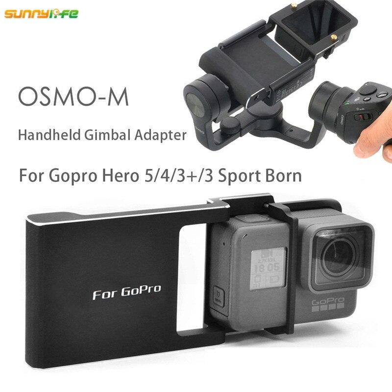 Sunnylife DJI OSMO Mobile Téléphone De Poche Cardan Caméra Adaptateur Interrupteur Commutateur montage Plaque avec Vis pour Gopro Hero 5 4 3 + 3