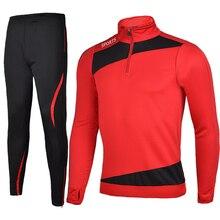 16 17 Men Sport Running Survetement Football Set Long Jacket Suit Soccer font b Training b