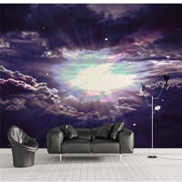 Wall Panel Wallpaper Universe Sky Solar System Background Modern Europe Art Mural For Living Room Large