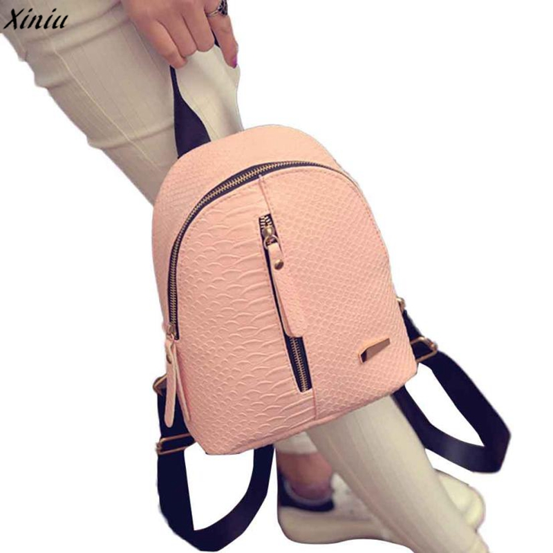 Xiniu Backpacks For High School Girls Fashion Pu Leather  Female Backpacks  Mochila Feminina Schoolbags Travel