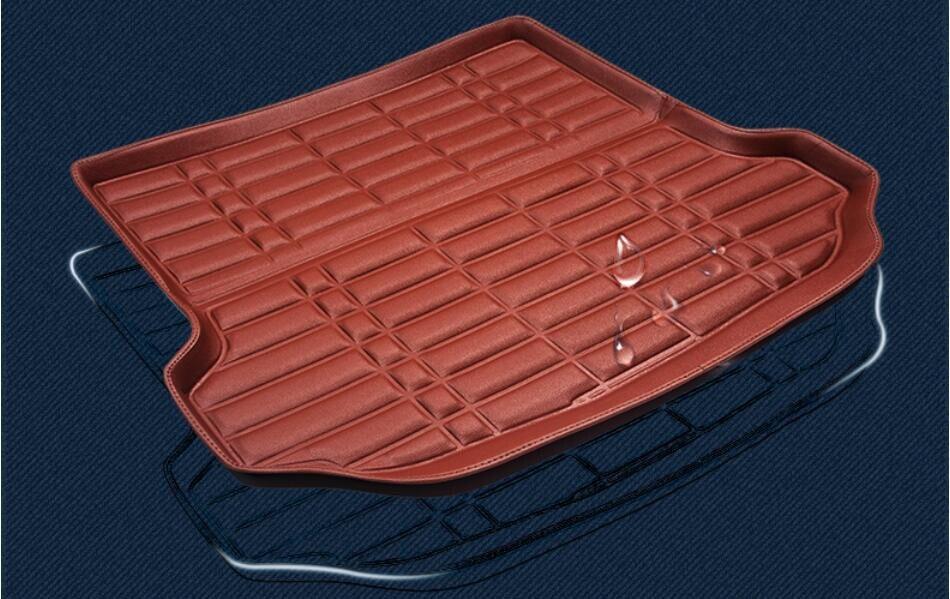 For BMW X1 E84 2013-2017 Car Trunk Mats Cargo Liner High Quality Waterproof Convenient Clean PU Mat.Free shipping