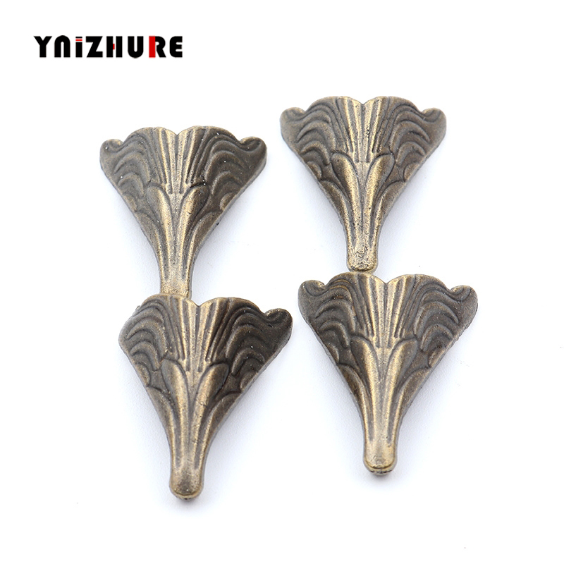 26*20mm 8PCS Antique Corner Protectors,Bronze Tone,Case Box Corners For Furniture Decoration Feet Metal Craft Corner