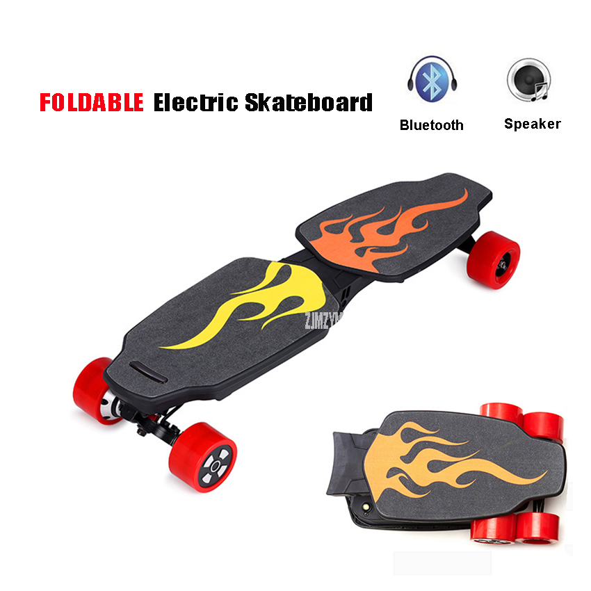 4 Four Wheels Electric Skateboard folding Hoverboard Scooter with 2 Motors Longboard Electric 2018 E-Scooter for Adults or Child 2 wheels kick scooter 350w lithium battery electric scooter with seat max load 150kg for adults free shipping