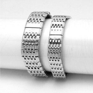 Image 4 - Watch accessories ladies stainless steel strap For Longines stainless steel strap mens sports waterproof silver strap 13mm 18mm